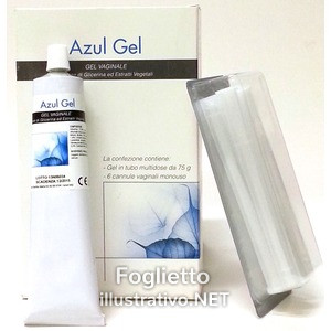 AZUL GEL VAG 40G+6CAN