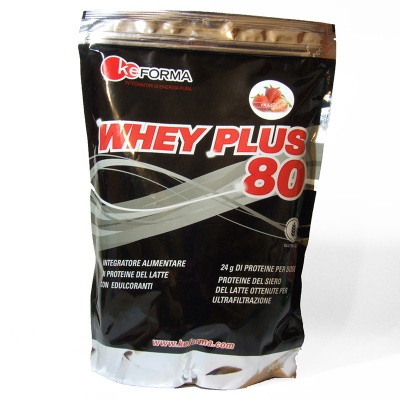 WHEY PLUS 80 900G GUSTO FRAGOLA